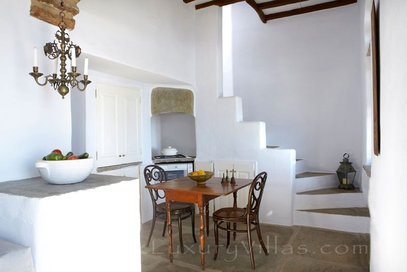 traditional house for two with open plan living room on Tinos