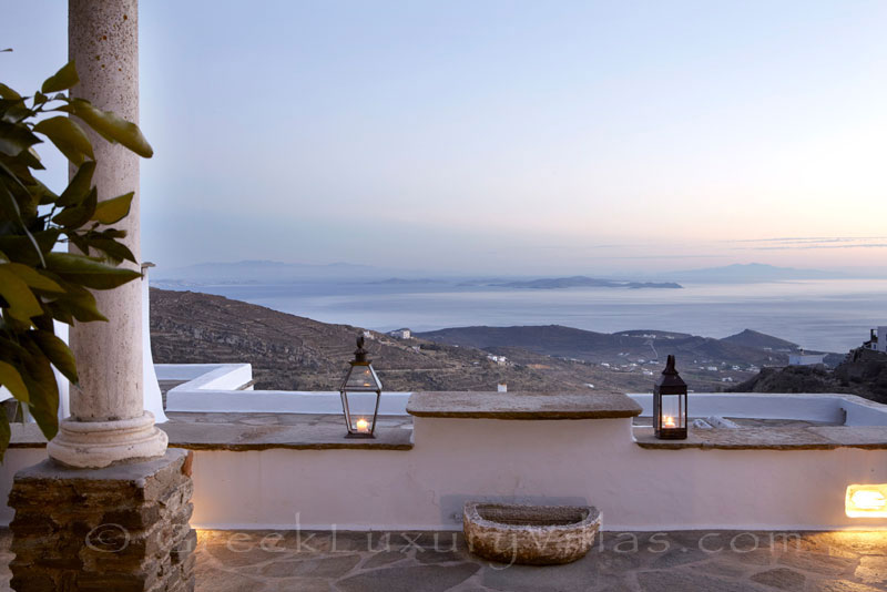 Tinos traditional house for two sea view