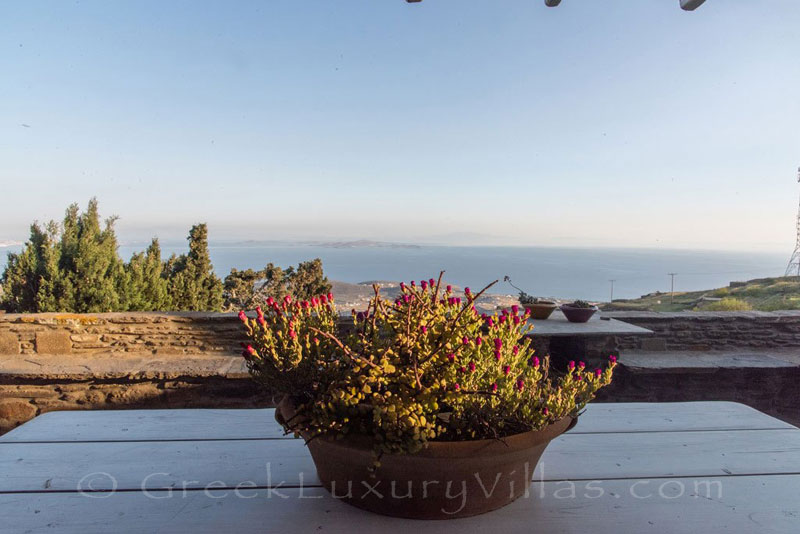 sea view from traditional villa on Tinos