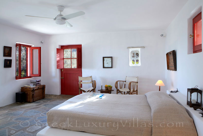 Tinos beach bungalow sea view from your bed