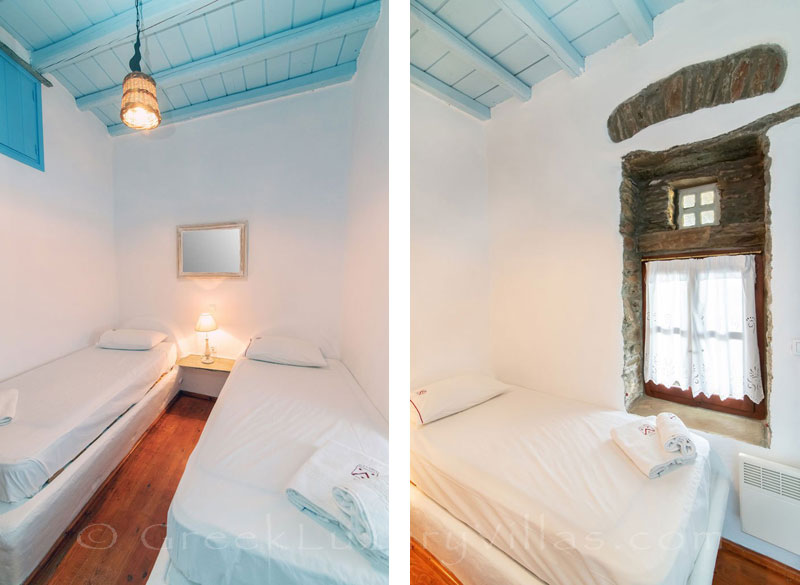 traditional villa for four on Tinos twin bedroom