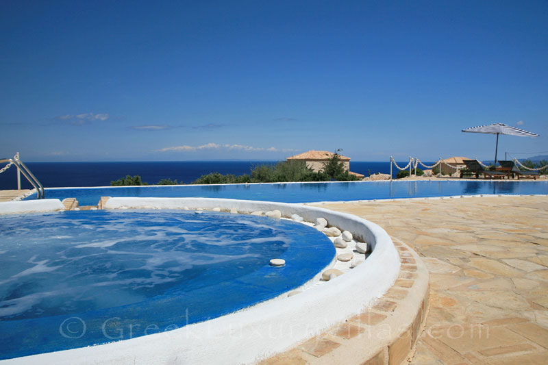 Seaview from the outdoor pool and jacuzzi of the villa